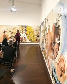 Poetry Sydney at the Studio, happening now! Pictured is Sydney based Tug Dumbly performing in front of Brett Whiteley's 'Alchemy'. Large Artwork, Alchemy, Sydney, Poetry, Shit Happens, Studio, Painting, Instagram, Painting Art