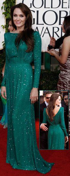 Golden Globes 2011   Versace   Angelina Jolie - I love this dress!