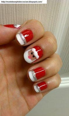Modele unghii de Craciun 2013: Simple designs for Christmas nails