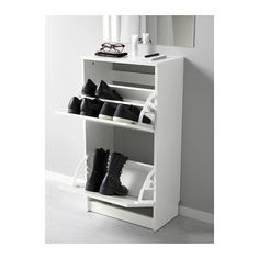"""BISSA Shoe cabinet with 2 compartments - IKEA Size 19 1/4x36 5/8 """""""