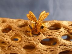 Great little Gold yellow and black bumble bee brooch. by DEJAVU143, $21.99