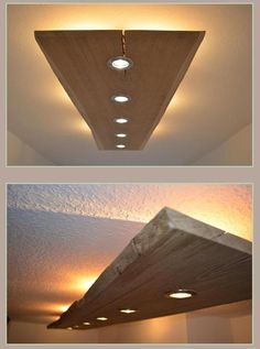 Wooden ceiling lights