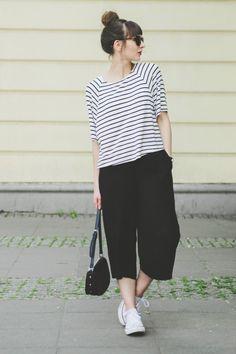 Stripes + culottes