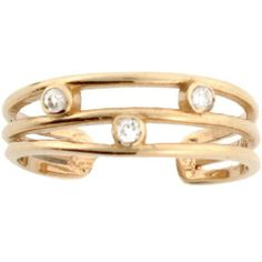 10k Real Solid Gold Diamond Beautiful Toe Ring Jewelry Liquidation. $108.91. Made with Real 10k Gold!. Made in USA!