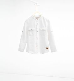 Image 2 of Textured weave shirt with pockets from Zara