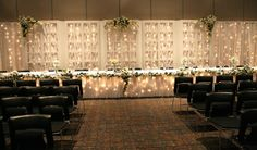 Weddings & Events at Black Bear Casino Resort allow you to do a backdrop on the floor behind your head table if you would like. Discuss options with your coordinator.