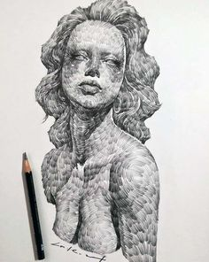 Uplifting Learn To Draw Faces Ideas. Incredible Learn To Draw Faces Ideas. Realistic Pencil Drawings, Cool Drawings, Minimal Drawings, Pretty Art, Portrait Art, Art Techniques, Traditional Art, Love Art, Art Inspo