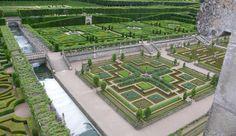 The famous gardens at Château de Villandry