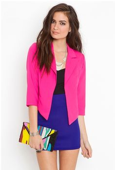 on a pink frenzy tonight! love this angled blazer