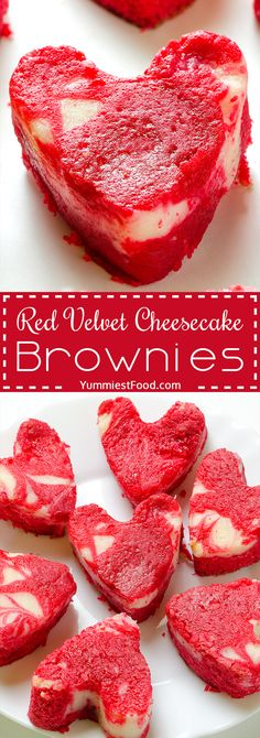 Valentine's Red Velvet Cheesecake Brownies - the perfect dessert for Valentine's Day! You need these Red Velvet Cheesecake Brownies to impress your partner. So tasty and creative!