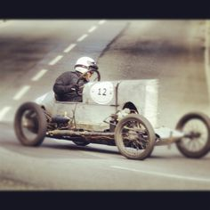 Old Racing Car with a fantastically unique front end.
