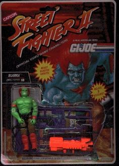 Blanka was released carded in the twelfth series as part of Capcoms Street Fighter 2 subset. The Street Fighter 2 figures were numbered 1 through 12 - Blanka was number was discontinued d Gi Joe, 1980 Toys, World Of Warriors, Old School Toys, Modern Toys, Best Christmas Presents, Cartoon Toys, 90s Childhood, Custom Action Figures