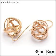 Rose Gold Earrings, Women's Earrings, Bijou Box, Greek Design, Designer Earrings, Rose Gold Plates, Bronze, Bracelets, Watches
