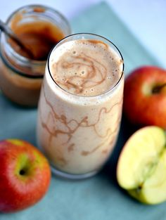 Raw carmel apple smoothie. This takes a bit of effort to make the carmel but it is worth it!