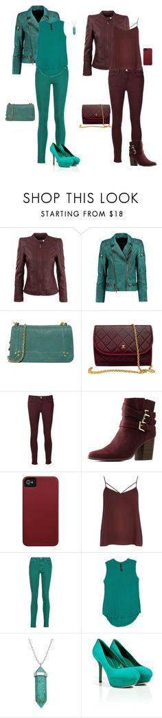 """""""Leather Jackets"""" by gone-girl ❤ liked on Polyvore featuring Morgan, Balmain, Jérôme Dreyfuss, Chanel, Frame, Charlotte Russe, Case-Mate, River Island, Acne Studios and Melissa McCarthy Seven7"""