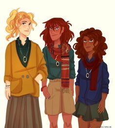 Annabeth Chase, Piper Mclean, Hazel Levesque