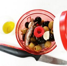 Recette de la tapenade d'olives rapide et facile, méthode Tupperware - French recipe
