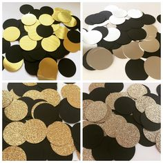 Black & Gold confetti