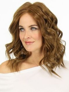 Romantic Medium Wavy Human Hair Capless Wig