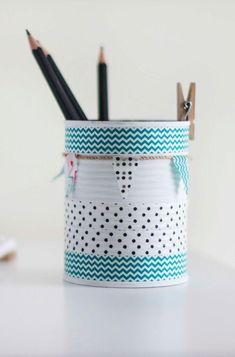 Dosen dekoriert: 60 coole Ideen für Zuhause #vasen #flur #pringles #gestalten #stiftehalter #blechdosen #garderobe #altbau #leere #basteln