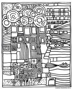 Hundertwasser Malvorlagen Ideeen Pinterest Craft