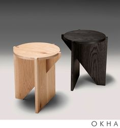 Studia — Home Smart Furniture, Plywood Furniture, Table Furniture, Furniture Design, Small Woodworking Projects, Small Wood Projects, Sofa Side Table, Wooden Stools, Small Tables