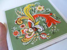 1970 Vintage Berggren Ceramic Tile by lookonmytreasures on Etsy, $11.20