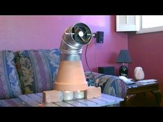 Candle Powered Heater! (Improved!!) - DIY Radiant Space Heater! (w/fan!) - Clay Pot Heater! - YouTube
