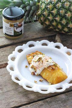 Coconut Honey Roasted Pineapple with Yogurt & Pistachios