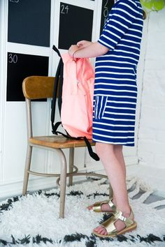 Packing up her kindergarten backpack for the first time @kohls #BigPlans