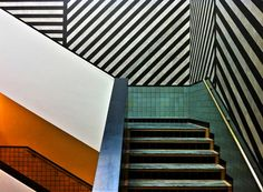 scandinaviancollectors:  A staircase with geometrical patterns, designer or location unknown. NOTE: Please let us know, if you have more inf...