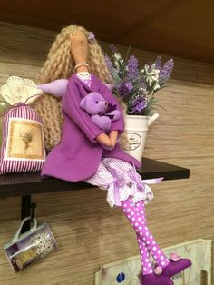 Куклы Тильды ручной работы. Кукла тильда лавандовая фея игровая. Мария Кондракова (MarysTilda). Ярмарка Мастеров. Кукла для девочки