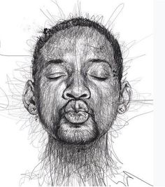 Megacurioso - Artista desenha rostos de atores famosos sem tirar a caneta do papel