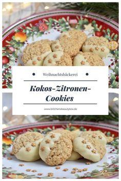 Weihnachtsbäckerei - ein leckeres und schnelles Rezept für Kokos-Zitronen-Cookies #weihnachtsbäckerei #backen #weihnachten #plätzchen