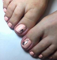 #nail #nails #uñas #uña #uñascrilicas #pies #pieslindos #decoración Pretty Toe Nails, Cute Toe Nails, Pretty Toes, Toe Nail Art, French Manicure Nails, Manicure Y Pedicure, Classy Nail Art, Toe Nail Designs, Nail Inspo