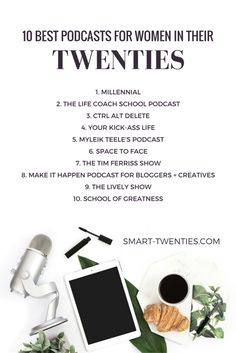 10 podcasts that will inspire and encourage ambitious millennials to achieve their goals and make the most of their twenties. And they're all free!