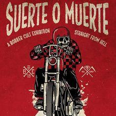"""440 curtidas, 29 comentários - Bobber Cult (@bobbercult) no Instagram: """"SUERTE O MUERTE. Bobber Cult exhibition. Opening February 14th at @lasala_zaragoza , Spain…"""""""