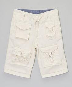 Another great find on #zulily! Cream Cargo Shorts - Toddler & Boys by Sean John #zulilyfinds