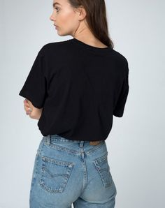 Basic Tee in Damned Black by Motel