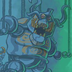 Puppet Ganon from Wind Waker for #ZeldaChallenge #art #artwork #drawing #fanart #zelda #ganon #puppet #puppetganon #boss #fake #painting #project #challenge #game #games #videogames #gamestagram #gaminglife