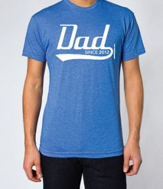 Dad Since ANY YEAR Fathers Day T-shirts - free US shipping