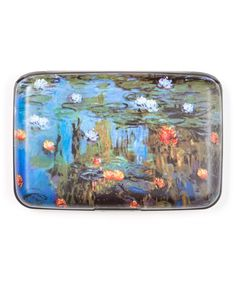 Blue & Pink Water Lilly Armored Wallet by Fig Design Group #zulily #zulilyfinds
