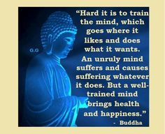 Well trained mind brings health and happiness.