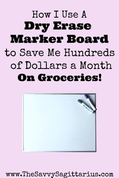 Groceries is the number one easiest category to go over budget on! Here is how I use a marker board for my meal planning to save me hundreds of dollars on groceries every month! Make Garlic Bread, Grocery Savings Tips, How To Make Spaghetti, Marker Board, Worst Names, Adding And Subtracting, Save Money On Groceries, Frugal Living Tips, Dry Erase Markers