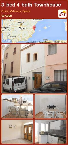 3-bed 4-bath Townhouse in Oliva, Valencia, Spain ►€77,000 #PropertyForSaleInSpain