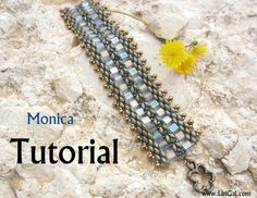Create your own, super-elegant bracelet! Use the colors you like, make it special!  ***This bracelet is featured in Bead&Button Magazine