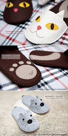 Children Slipers – Baby and Toddler Clothing and Accesories Felt Crafts, Fabric Crafts, Sewing Crafts, Diy And Crafts, Sewing Projects, Sewing Tutorials, Sewing Patterns, Felt Baby, Shoe Pattern