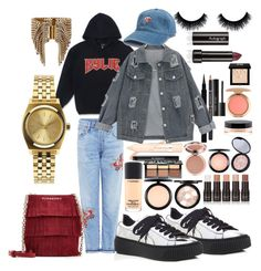 """""""Kylie J"""" by madisonkiss on Polyvore featuring L'Oréal Paris, Elizabeth Cole, Citizens of Humanity, Puma, Burberry, Nixon, MAC Cosmetics, Sephora Collection, Givenchy and Bobbi Brown Cosmetics"""