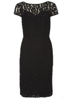 Black lace pencil dress