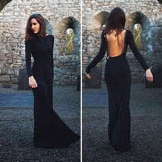 dress open back zipper